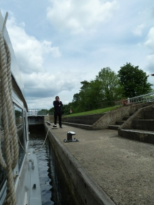 Entering Boveney Lock