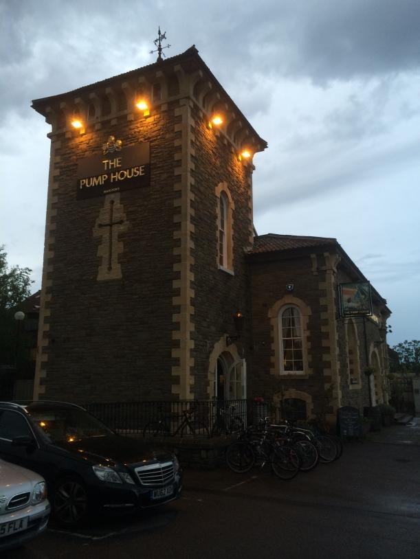 The Punp House at dusk