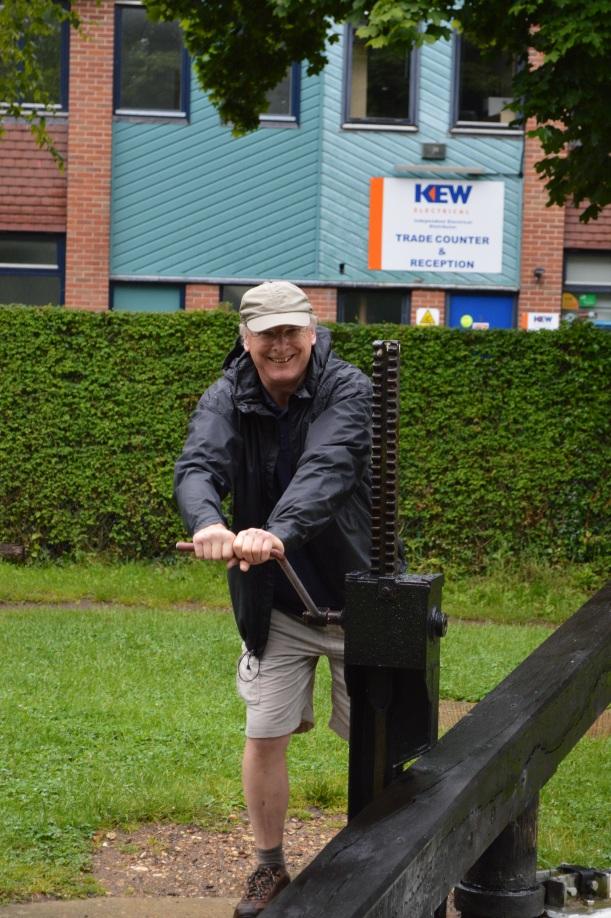 Bob winding a paddle