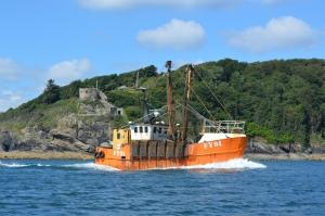 Fishing boat returning to base