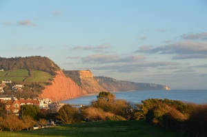 The cliffs at Sidmouth