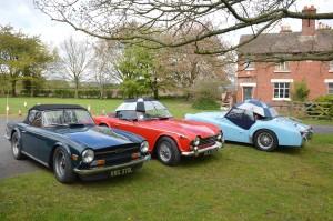 More vintage Triumphs