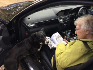 Mum and Flash - the Woonton Court dog