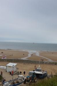 Runton Beach in the rain
