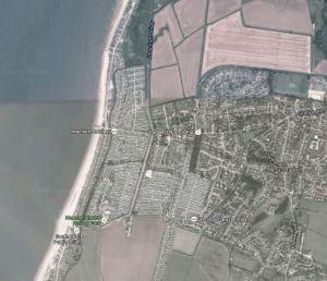 Heacham Static Caravans aerial view